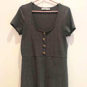JustFab mini dress henley cotton blend